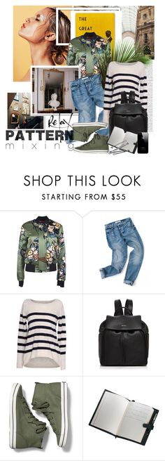 """""""YOLOO"""" by strange-girl0 ❤ liked on Polyvore featuring Oris, Dsquared2, Velvet by Graham & Spencer, DKNY, Keds, Royce Leather, BOBBY and patternmixing"""