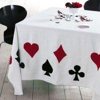 toalha de mesa para amantes de baralhos