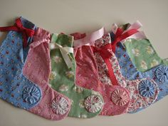 A Bit of Heaven: Vintage Fabric Christmas Stockings
