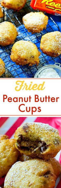 Deep Fried Peanut Butter Cup- so good! Deep Fried Foods, Deep Fried Desserts, Deep Fried Recipes, Peanut Butter Desserts, Peanut Butter Cups, Chocolate Peanut Butter, Quick Recipes, Fall Months, Fair Foods
