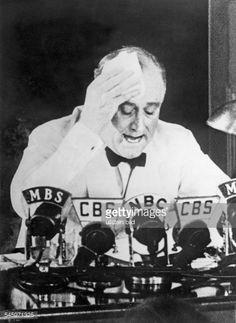 Franklin D.Roosevelt, Politiker, USA, Präsident, Rede (Nazismus) : News Photos