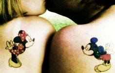 Unique Cute Matching Couple Tattoos - Cute Matching Couple Shoulder Tattoos