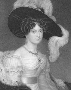 1830 (published) Duchess Victoria Louisa black and white print   Grand Ladies   gogm