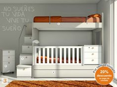 Swap a crib for the bottom bed on the ikea mydal bunk bed little one 39 s abode in 2019 - Muebles nieto dormitorios juveniles ...