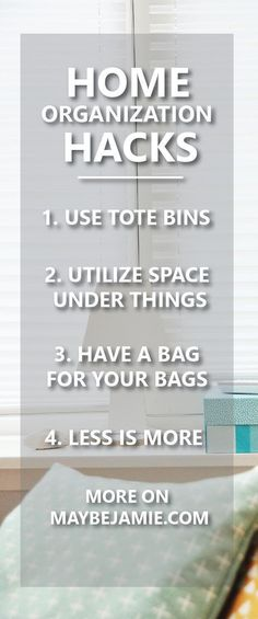 Ready to organize your home? Here I give you lots of hacks to have your home looking clean and tidy in no time.