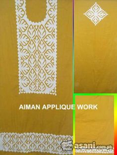 Applique Work on Shirts, Cushion, Bed Sheet,