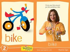 This Week's Featured Sign: Bike    https://www.signingtime.com/blog/2013/06/sign-of-the-week-bike-2/
