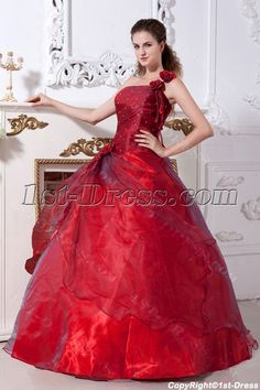 2fb74a9117a Burgundy One Shoulder 15 Quinceanera Dress IMG 2166 1st-dress.com Burgundy  Quinceanera Dresses