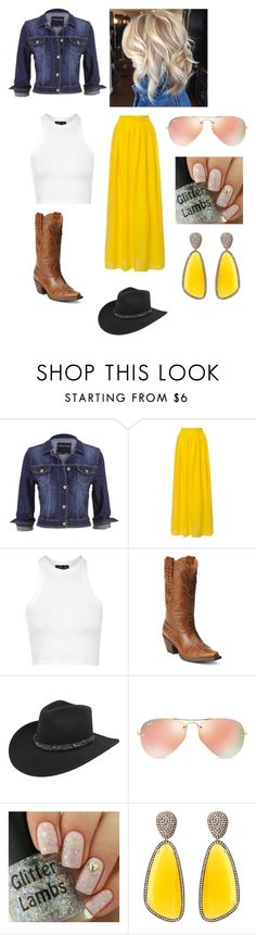 """Cowgirl time"" by fashionlover351 ❤ liked on Polyvore featuring maurices, Topshop, Ariat, Bailey Western, Ray-Ban, Christina Debs, women's clothing, women, female and woman"