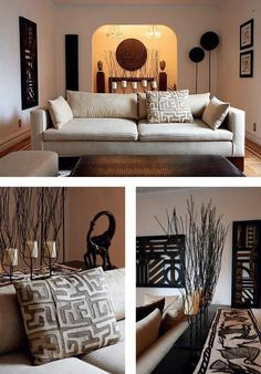 follow me @cushite Living Room - African decor - graphic shapes, nature inspired, clean lines...beautiful