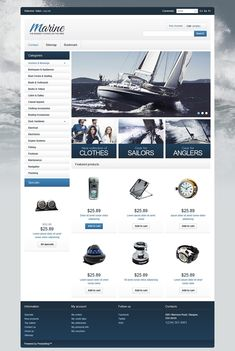 Schooner or Later You'll Be Shore to Fall in Love with these Marine & Boating PrestaShop Themes - Marine Equipment Shop