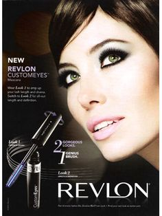 Jessica Biel for Revlon makeup celebrity endorsements