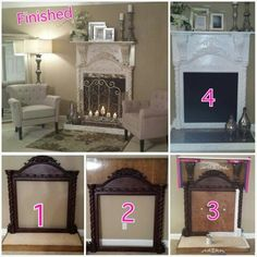 Mind Blowing Ideas: Fireplace With Tv Couch fireplace with tv couch.Fireplace In. - Mind Blowing Ideas: Fireplace With Tv Couch fireplace with tv couch. Faux Fireplace Mantels, Fireplace Surrounds, Fireplace Design, Mantles, Fireplace Mirror, Fireplace Ideas, Fireplaces, Open Fireplace, Faux Mantle