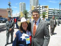 Texas Gov. Perry, one of the honorees at the Treasure Life event, with a TX attendee.