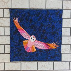 """Juliet from The Tartankiwi just revealed her secret sewing project """"Night Owl"""". All the quilting was done using #Aurifil 50 wt thread."""