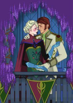 "Tell me a different story by Jg-OmniaArt.deviantart.com on @DeviantArt - Elsa and Hans from ""Frozen"""