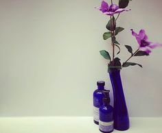 A blue bottle is never wasted at NYR! This vase is made of recycles glass from empty bottles. #nealsyard #nealsyardremedies #recycle #natural #organic #naturalbeauty