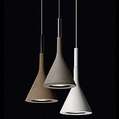 Aplomb Pendants by Foscarini... concrete shades in a perfect palette... One of each, please