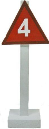 Amazon Com Wood Tin Triangle Channel Marker On Post 4 Red 5 75