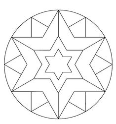 estrella Pattern Drawing, Mandala Pattern, Mandala Design, Mosaic Patterns, Stained Glass Patterns, Coloring Sheets, Coloring Pages, Colouring, Mandala Painting