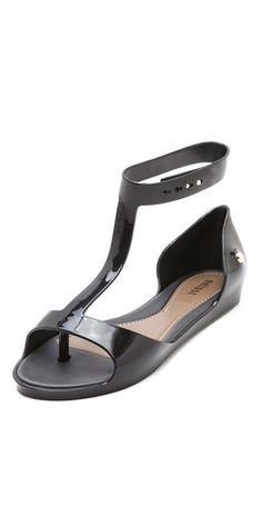 Melissa - T Strap Flat Sandals