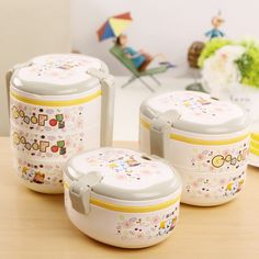 Portable Multi-Layer Plastic Thermal Insulated Lunch Box Bento Food Picnic Container