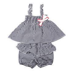 Cute Baby Outfits | shirt en broekje | Cute Big Bow | www.kienk.nl