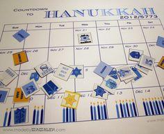 Chai to Hanukkah Countdown Calendar and Stickers