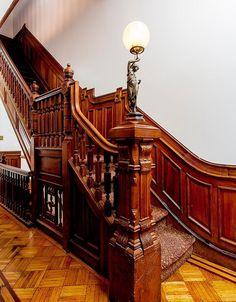 Brooklyn Saint Johns Place  Victorian foyer stairwaystairway foyer Victorian…