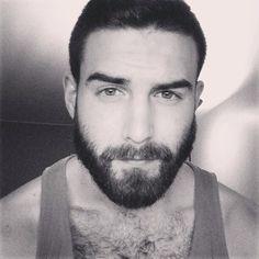 Hairy Guys Are The Hottest! Mens Facial, Facial Hair, Moustaches, Pretty Men, Gorgeous Men, Hello Gorgeous, Hairy Men, Bearded Men, Designer Stubble
