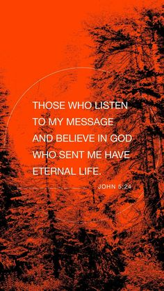 Bible Verse Pictures, Bible Verses, Worship Quotes, Feeling Rejected, Prayer For The Day, Amplified Bible, John 5, Bible Verse Wallpaper, Everlasting Life