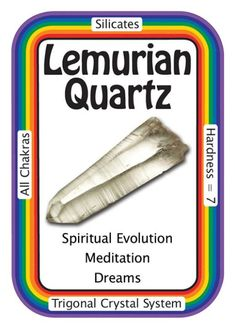 "Crystal Card of the Day: Lemurian Quartz, ""I reach beyond time and space.""  Metaphysical Legend states that there was once an advanced ancient  civilization called Lemuria, similar to Atlantis but more spiritually  developed and peaceful. As the end of their time on Earth was coming to  an end, the Lemurians programmed these crystals to teach their messages  of oneness and healing - messages that would  be revealed when the energy on Earth was ready to receive them. The  Lemurians then…"
