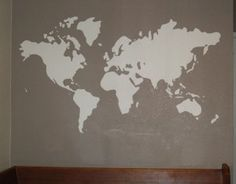 How To... Paint A World Map Mural (DIY) - Red Ted Art's Blog