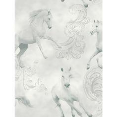 Price Right Home -  Camarillo Horse Wallpaper - Grey - Arthouse 667300