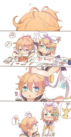 Read Memes from the story Memes de Vocaloid by make_hatsune (Make Hatsune) with reads. Rin: Mi nombre es Len y soy un H. Manga Kawaii, Chica Anime Manga, Otaku Anime, Anime Chibi, Anime Art, Hatsune Miku, Kaito, Len Y Rin, Kagamine Rin And Len