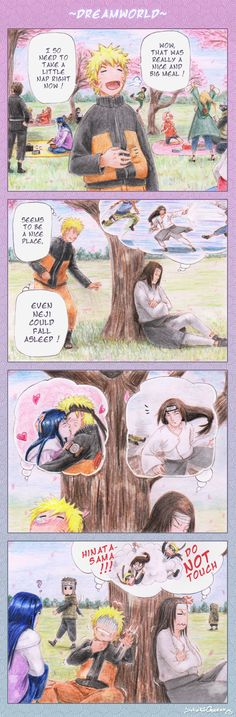 Naruto in Dreamworld, it seems like Neji is fighting Black Star :P