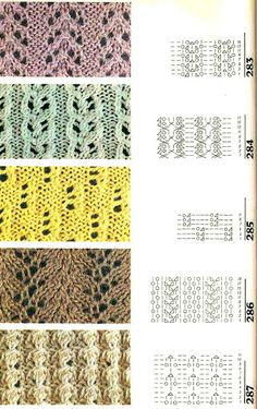 Knitting Stitches from Russia with charts. 4 lovely patterns here.