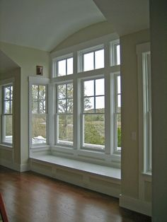 Beautiful Bay Window with Window Seat Oh goodness, I love windows more and more.