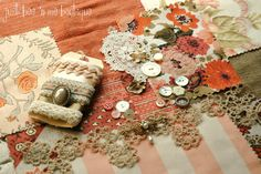 Peaches and Cream Inspiration Kit  Vintage by JustBeenMeBoutique, $10.00