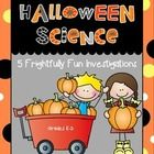 "This is my favorite holiday-themed science set yet... so much fun!  This pack includes 5 hands-on Halloween science investigations with teacher notes, student recording sheets, ""How Does That Work?"" explanation sheets, and anchor chart pieces for 3 of the investigations."