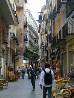One of the small streets of El Carmen, the old centre of Valencia.