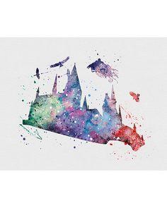 Harry Potter Dementor Watercolor Art