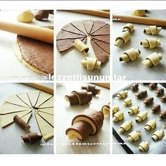 Only pictures but lots of brilliant ideas got baking Croatian Recipes, Turkish Recipes, Cookie Recipes, Dessert Recipes, Bread Shaping, Kolaci I Torte, Bread Cake, Bread And Pastries, Pastry Cake
