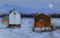 """Kvit maane"" - Gunn Vottestad. House Painting, Shelter, Fine Art, Architecture, House Styles, Artwork, Projects, Inspiration, Home Decor"