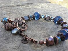 Shades of Blues Gemstone Freshwater Pearls  and by cambriawolfe, $32.00
