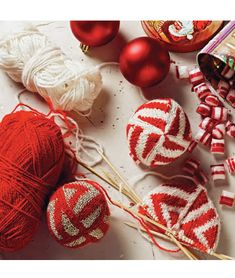 55 Christmas Balls to Knit by Arne & Carlos, McA direct