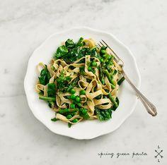 spring green lemon & basil pasta from Love & Lemons