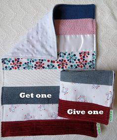 Baby Boy Sensory Security Blanket  Lovey - jumbo jet -Get One, Give One to babies in Kenya, $30.00