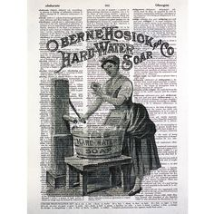 Vitage Laundry Detergent | Vintage Laundry Soap Print on a Vintage by glasslionstudio on Etsy
