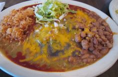 just love enchiladas with blue corn tortillas, they are the best.